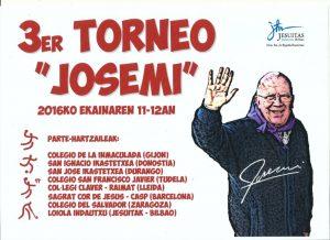 Cartel Torneo Josemi 3 - 2016 low